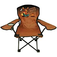 Kids Folding Camp Chair, Ages 2-6, Rockin Moose (Color Varies)