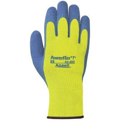 (PowerFlex® T Hi Viz YellowTM Gloves - 206420 9 powerflex natural rubber [Set of 6])