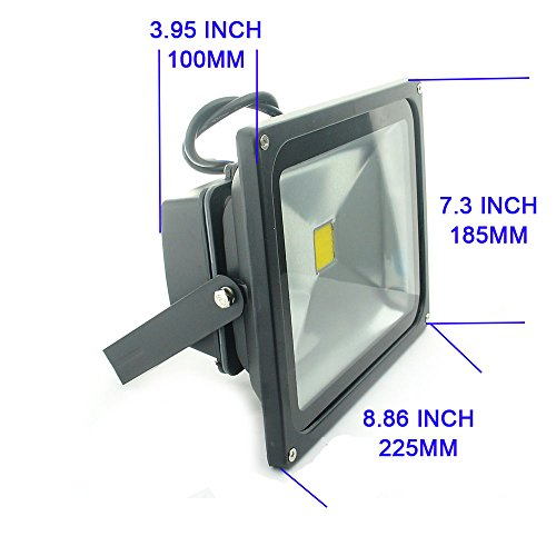 QUANS 30W Watt Warm White 12V 24V AC DC Ultra Bright LED Security Wash Flood Light Floodlight Lamp High Power Black Case Waterproof IP65 Work in The Rain Superbright 3000K, 12-24V Input Low Voltage by QUANS (Image #3)