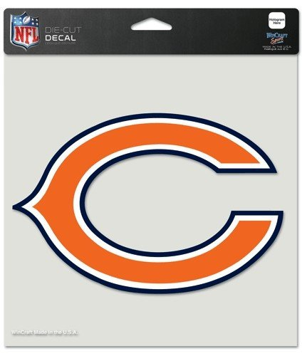 NFL Chicago Bears 80767010 Perfect Cut Color Decal, 8