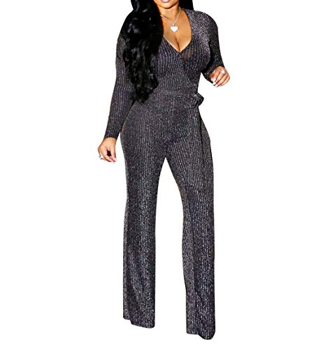 Women 2 Piece Outfits Jumpsuits Short Sleeve Crop Tops Wide Leg Pants Set Rompers Party Clubwear