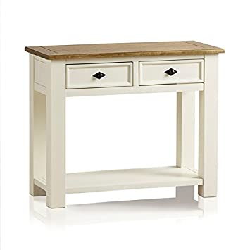 Exceptional Oak Furniture Land Shutter Brushed Oak And Painted Console Table End Table  Living Room Furniture
