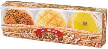 【ちいさな幸せメラミンパンスポンジ3個組 】キッチン/かわいい/プチギフト/プレゼント (60個セット)