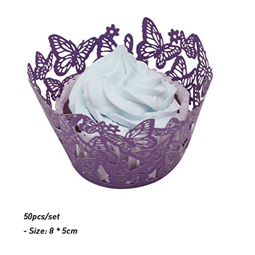 Wedding Hollow Lace Laser Cut Cupcake Wrapper Liner Baking C