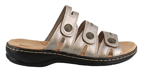 CLARKS Womens, Leisa Lakia Slide On Sandals Pewter 10 W
