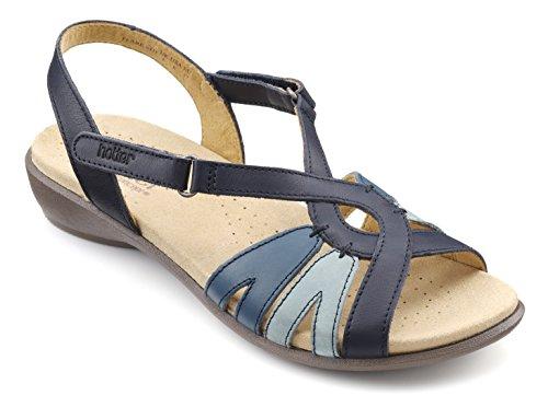 Navy Hotter Toe Multi Blue Sandals Open Flare Women's ASSFUxwY