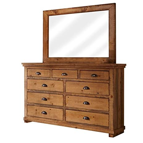 Progressive Furniture Willow Distressed Pine Drawer Dresser, 66 By 20 By  44u0026quot;