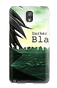 Shannon Morgan's Shop Best 7824091K13364141 Scratch-free Phone Case For Galaxy Note 3- Retail Packaging - Hei Darker Than Black