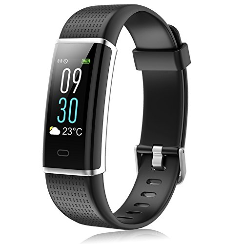 MINLUK Fitness Tracker, Activity Tracker with Pedometer Blood Pressure Heart Rate Monitor IP67 Waterproof Wristbands, Calorie Counter Watch, Sleep Monitor, Calls SNS SMS Remind for Men Women