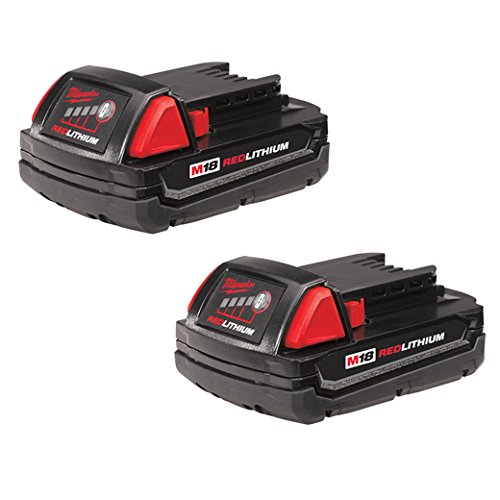 Milwaukee 48-11-1811 M18 Compact 1.5 Ah Battery - 2 Pack by Unknown