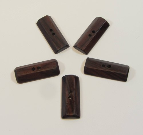 Rosewood 2 inch Rectangular Toggle Buttons