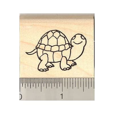 Cute Turtle Rubber Stamp: Arts, Crafts & Sewing