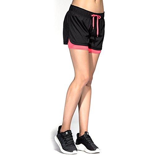 CtopoGo 2-in-1 hardloopshorts voor dames, yoga, gym, sport, shorts, ademend, fitnessbroek, outdoor sportbroek…