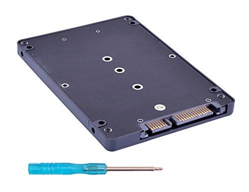 2.5' Internal Ssd (NGFF M.2 SSD to 22-Pin SATA III Converter Adapter with 2.5'' Enclosure, Support NGFF SATA-bus M.2 2280 2260 2242 2230 SSD with Key B / Key B+M)