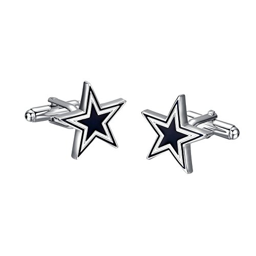 Yoursfs Blue Five Star Cufflinks For Men Stainless-Steel Classic Wedding Engagement Cuff Links (Gift Delivery Dallas)