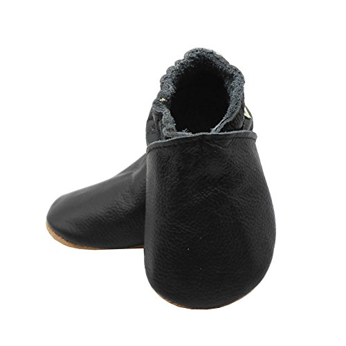 Sayoyo Baby Soft Sole Shoes Genuine Leather First Walker Infant Toddler Moccasins(12-18 Months, Black) by Sayoyo (Image #6)
