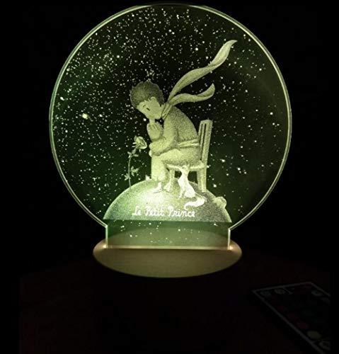 Unified Night Light Cartoon Little Prince Round Mirror Acrylic Night Light Creative -
