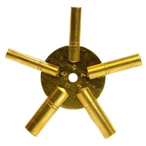 Clock Winding Key - Brass, Odd Number