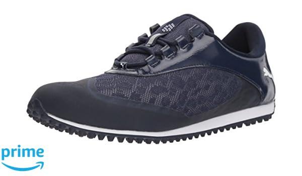 PUMA Golf Women's Summercat Sport Golf Shoe, PeacoatWhite