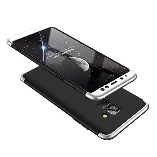 Samsung Galaxy A8 2018 Caso, Vandot de 360 Grados Alrededor de Todo el Cuerpo Completo de Protección Ultra Thin Slim Fit Cubierta de la Caja de Mate PC Absorción de impactos Shockproof para Samsung Ga QBHD PC-9