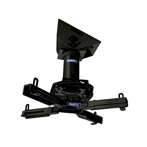 (QualGear Pro-AV QG-KIT-VA-3IN-B Projector Mount Kit Accessory Vaulted Ceiling Adapter, 3
