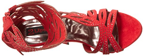 Women Red Sandal Glamor Lips Gladiator Too 2 Too 7x0wqETz