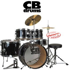 cb drums 5 piece junior drum set jrx55 pk musical instruments. Black Bedroom Furniture Sets. Home Design Ideas