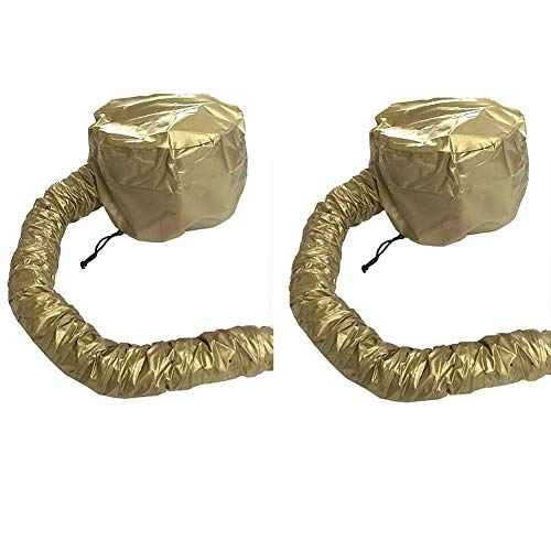 - Drying Hood Bonnet For Use With Hair Dryer Portable Soft Hood Attachment Easy To Use For Haired Women,2 Pcs,Gold