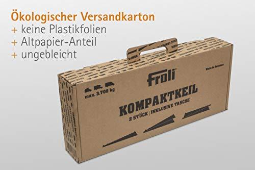 Froli Auffahrkeil für Wohnmobil, Wohnwagen, Reisemobil und Camper, Ausgleichskeile Set, 2x Kompaktkeil, 1x Keil-Tasche…