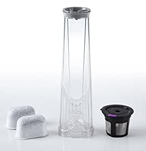 K2.0 Water Filter Replacement Starter Kit for Keurig 2.0 with 2 Charcoal Water Filter Cartridges, 1 Water Filter Assembly and 1 Reusable K Cup