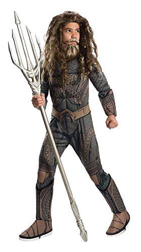 [Justice League Child's Deluxe Aquaman Costume, Small] (Aquaman Costume For Kids)