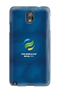 New Design Shatterproof YaxoteG14609WLRiU Case For Galaxy Note 3 (fifa World Cup Brasil 2014 Logo Iphone 5)