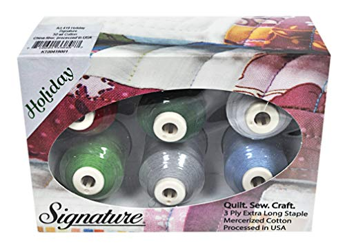 Cotton Mini King Spools - Signature 50 Cotton Mini King 6 Spool Gift Pack - Holiday