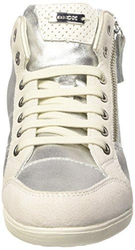 Geox D Myria A - Zapatillas de deporte Mujer Plateado - Argento (Silver/Off Wht)