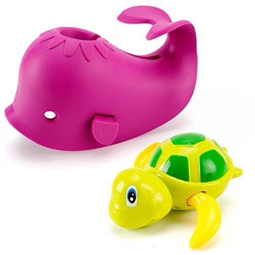 - Artoflifer Baby Bath Spout Cover Baby Bathtub Faucet Cover Bath Tub Faucet Extender Protector Silicone Soft Spout Cover Purple Whale Bundles with Bath Pool Toys Wind Up Turtle Baby Bath Toys Large