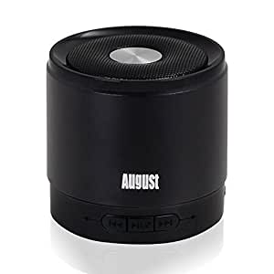 August MS425 - Altavoz Bluetooth Portátil Inalámbrico, color negro