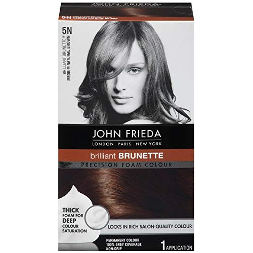 John Frieda Precision Foam Hair Colour, Medium Natural Brown 5N, 2 pk