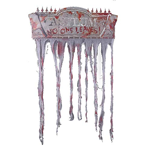 Dreadful Boneyard Halloween Door Banner Party Beware Door Curtain Decoration for Pub Home Party Bistro Outdoor DÃcor -