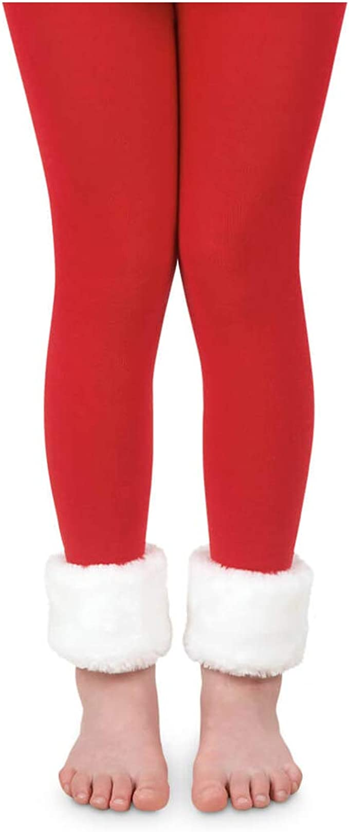 Jefferies Socks Girls Holiday Christmas Stripe Pattern Fashion Novelty Tights 1 Pack