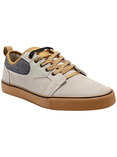 Animal Mens Iconn Skate Shoes Stone Grey