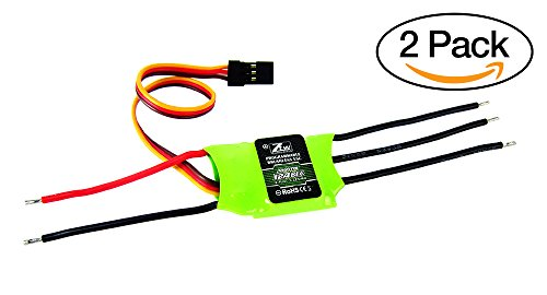 2-Pack of ZTW 12A Brushless ESC for RC Airplanes & Helicopters