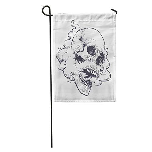 Semtomn Garden Flag Vaping Skull Steam Coming Out