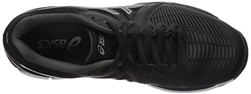 Asics Womens Gel-netburner Ballistic Volley-shoes Nero / Grigio Scuro / Bianco