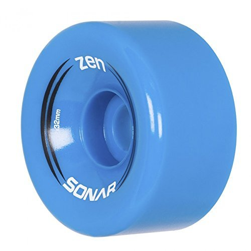 Outdoor Skates - Riedell New Sonar Zen Quad Outdoor Replacement Skate Wheels 8 Pack! (Bright Blue)