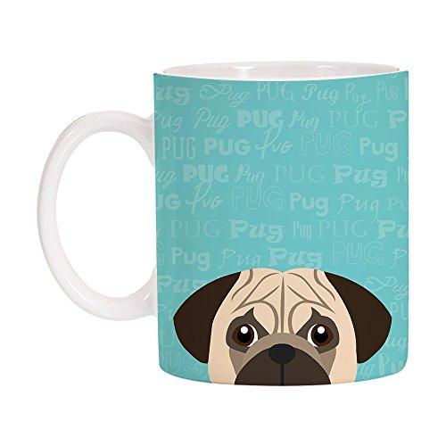 Breed Coffee Mug - Adorable Dog Breed Specific 11oz Ceramic Coffee Mug (Pug)