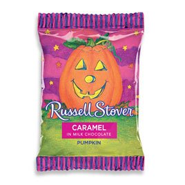 Russell Stover Milk Chocolate Caramel Pumpkins, 1 Ounce, 36 Count by Russell Stover