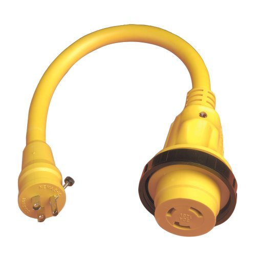 1 - Marinco Pigtail Adapter Plus - 30A Female To 15A Male