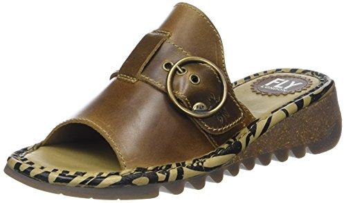 Fly London WoMen Tani807fly Open Toe Sandals Brown (Camel)