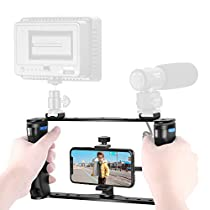 Neewer U Rig Smartphone Video Rig, Filmmaking Case, Phone Video Stabilizer Grip Tripod Mount for Videomaker Film-Maker Video-grapher for iPhone X Xs XS Max XR X HUAWEI Samsung, Single or Double Handed