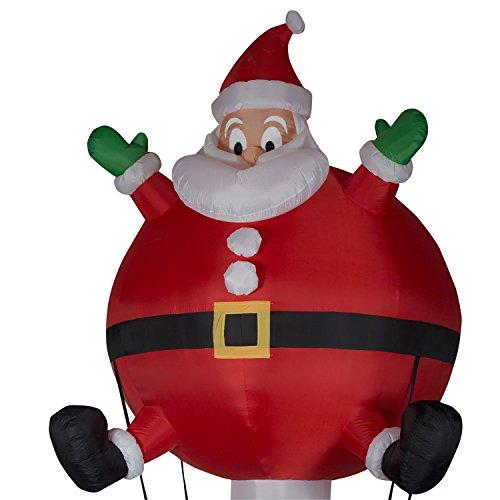 Santa Inflatable Hot Air Balloon - Christmas Fun Airblown - 12ft tall by Holiday Airblast (Image #2)